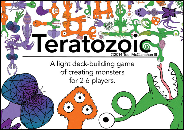 Teratozoic, a card game by Teel McClanahan III, from Modern Evil Press