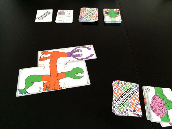 Teratozoic - Playing cards; creating monsters